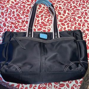Vinyl Black Coach Bag